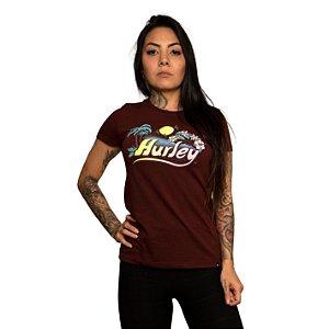 Camiseta Hurley One & Only Vermelho Mescla
