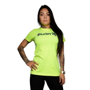 Camiseta Hurley One & Only Amarelo Neon
