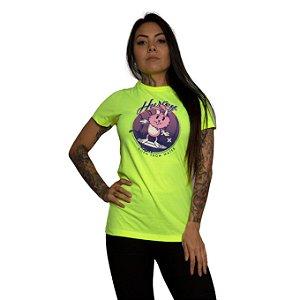 Camiseta Hurley Surfer Rabbit Amarelo Neon