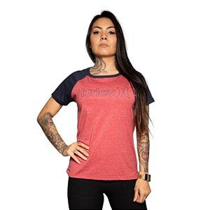 Camiseta Hurley O&O Fill Vermelho Mescla