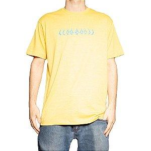 Camiseta Volcom Silk Stoney Cycle Mescla Amarelo