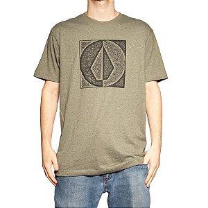 Camiseta Volcom Silk Stamp Divide Mescla Verde