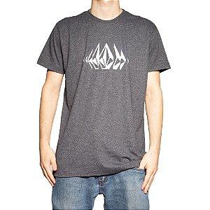 Camiseta Volcom Silk Stone Sounds Mescla Preto