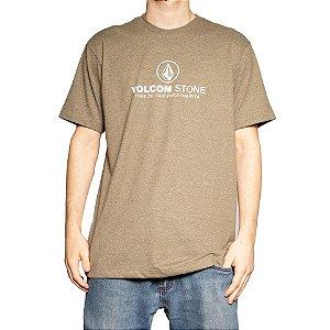 Camiseta Volcom Silk Super Clean Mescla Verde