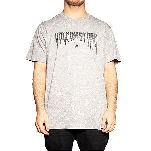 Camiseta Volcom Silk Devils Brew Cinza Mescla