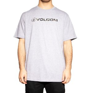 Camiseta Volcom Silk New Style Mescla Cinza