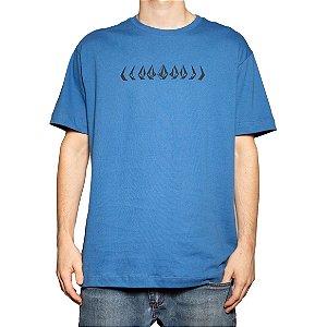 Camiseta Volcom Silk Stoney Cycle Azul Vintage