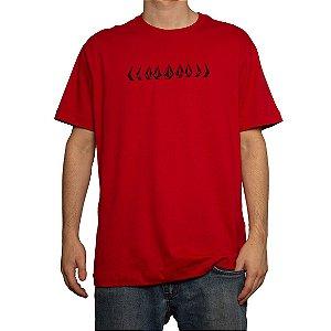 Camiseta Volcom Silk Stoney Cycle Vermelho