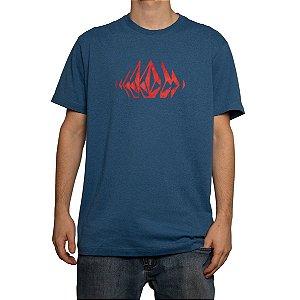 Camiseta Volcom Silk Stone Sounds Azul Anil