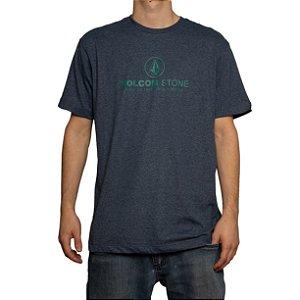 Camiseta Volcom Silk Super Clean Mescla Azul
