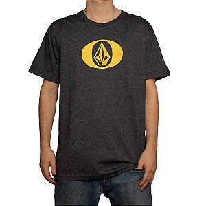 Camiseta Volcom Silk Eliptical Mescla Preto