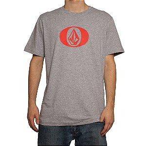 Camiseta Volcom Silk Eliptical Mescla Cinza