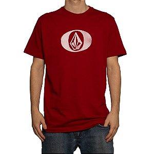 Camiseta Volcom Silk Eliptical Vermelho