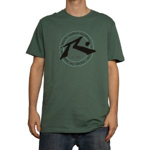 Camiseta Rusty Silk Horizon Verde Army