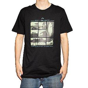 Camiseta Rusty Silk No Clocks SB Preto
