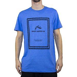 Camiseta Rusty Silk Maui Azul Saphire Mescla