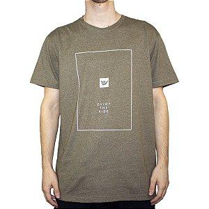 Camiseta Hang Loose Silk Ride Verde Mescla