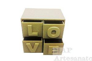 Organizador love 4 gavetas