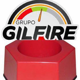 Suporte de Extintor em Fibra - Modelo Sextavado - Vermelho - Universal