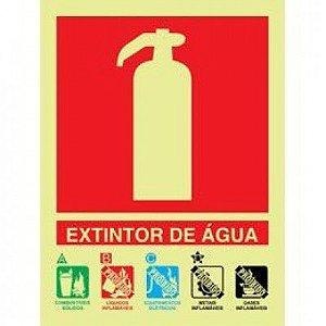 Placa Fotoluminescente De Sinalização Extintores - Extintor De Água