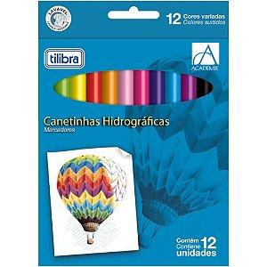 CANETA HIDROGRÁFICA ESCOLAR 1.0MM 12 CORES Tilibra