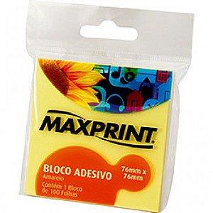 Bloco Adesivo 76x76 Médio Amarelo MAXPRINT PT 100 FL