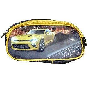 Estojo Camaro Duplo Luxel Amarelo