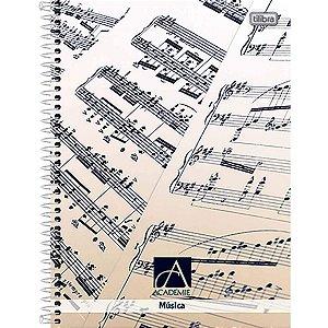 CADERNO CAPA DURA UNIVERSITARIO MUSICA ACADERNO 96F