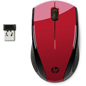 MOUSE USB HP SEM FIO X3000 VERMELHO