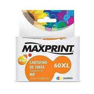Cartucho HP 60XL colorido MaxPrint