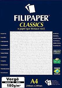 Filipaper Vergê 180g/m² (50 folhas; branco)