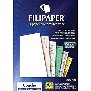 Filipaper Couchê 120g/m² (50 folhas; branco)