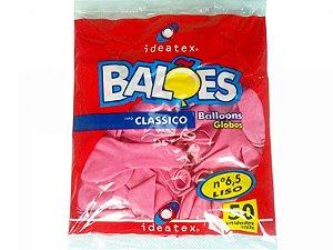 BALAO LISO ROSA N 6,5 RS C/50 IDEATEX