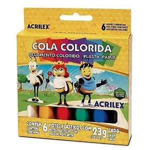 Cola Colorida Com 6 Unidades - Acrilex