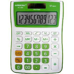 Calculadora de Mesa,12 Dígitos Grandes, Verde -Procalc