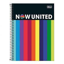 Caderno Universitário 1 Matéria Now United 80 Folhas Tilibra