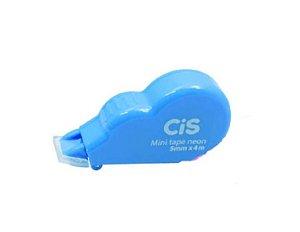 Corretivo Fita Cis Mini Tape Neon 5mmX4m Azul