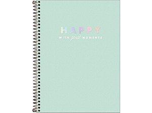 Caderno Universitário Happy 10 Matérias Tilibra Verde