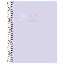 Caderno Universitário Happy 10 Matérias Tilibra Lilás