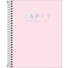 Caderno Colegial Happy 80Fls Tilibra Rosa