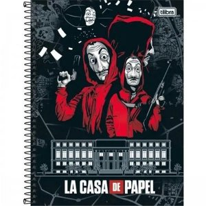 Caderno Universitário La Casa DE Papel 10x1 Tilibra