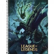 Caderno Universitário League Of Legends 10 Matérias Tilibra