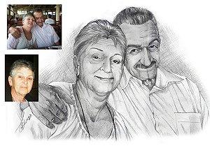 Desenho com duas pessoas – Grande