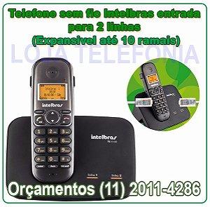 Telefone sem fio digital TS 5150 com entrada para 2 linhas
