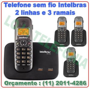 Telefone sem fio digital TS 5150 com entrada para 2 linhas + 3 Ramais