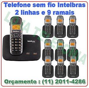 Telefone sem fio digital TS 5150 com entrada para 2 linhas + 9 Ramais