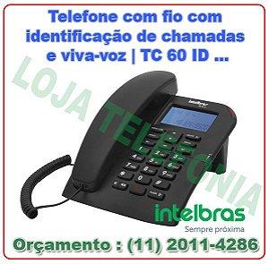 Telefone com fio com identificação de chamadas e viva-voz Intelbras TC 60 ID