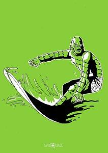 Poster Monstros do Cinema - Monstro da Lagoa Negra