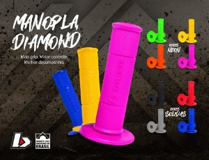 Manopla Biker Diamond Grip - (Par)