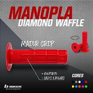 Manopla Biker Diamond Waffle - (Par)